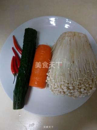 葱香金针菇的做法步骤:1