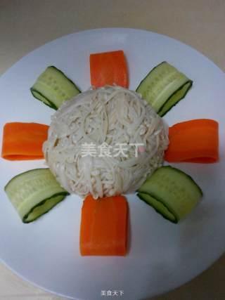 葱香金针菇的做法步骤:5
